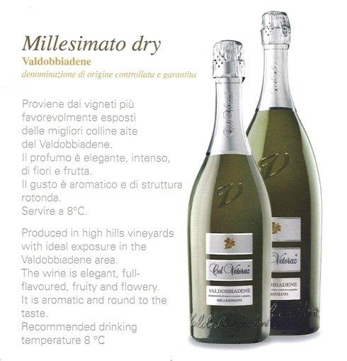 Millesimato Dry 0,75 e 1,5 lt.