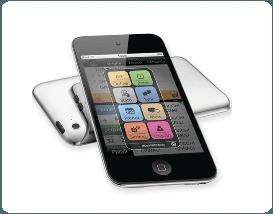 un iPhone con un'applicazione aperta