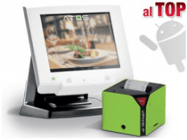 un monitor e una macchina stampa scontrini