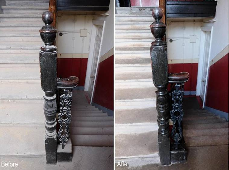 staircase steps cleaning