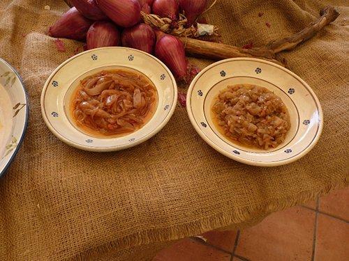 due piatti di pesce in umido