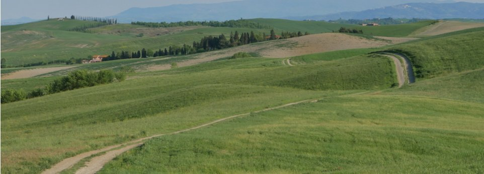 pianura e colline lungo la Via Francigena
