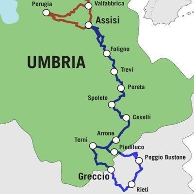 Itinrerario Via Francigena Umbria