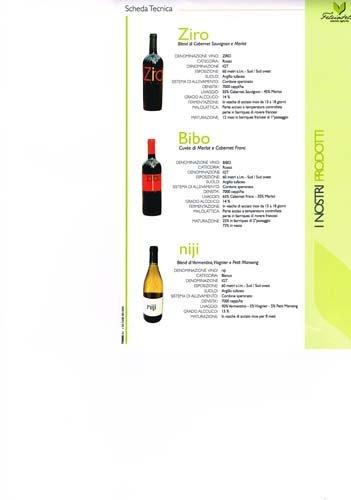 descrizione delle bottiglie di vino locali
