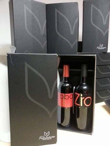 scatole regalo con bottiglie di vino tipiche locali