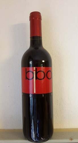 bottiglia di vino bibo