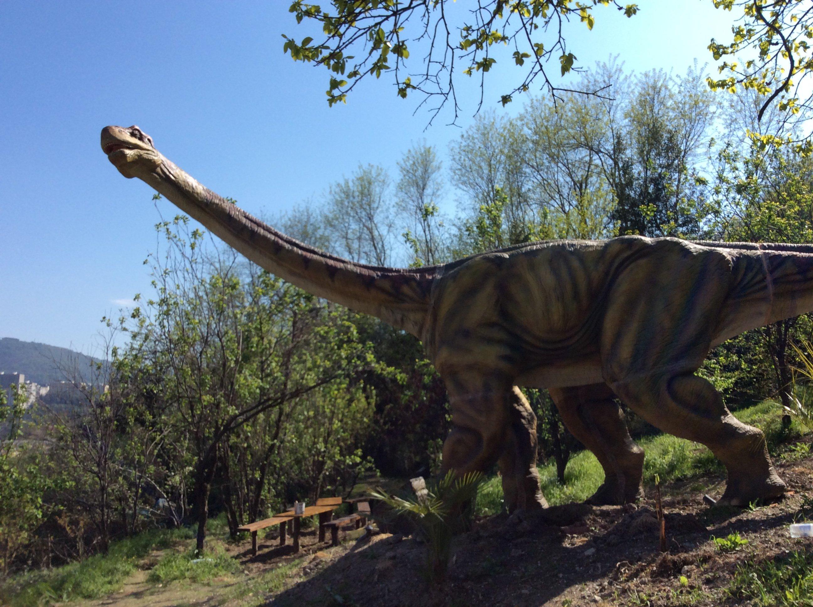 Modello di un Brontosauro