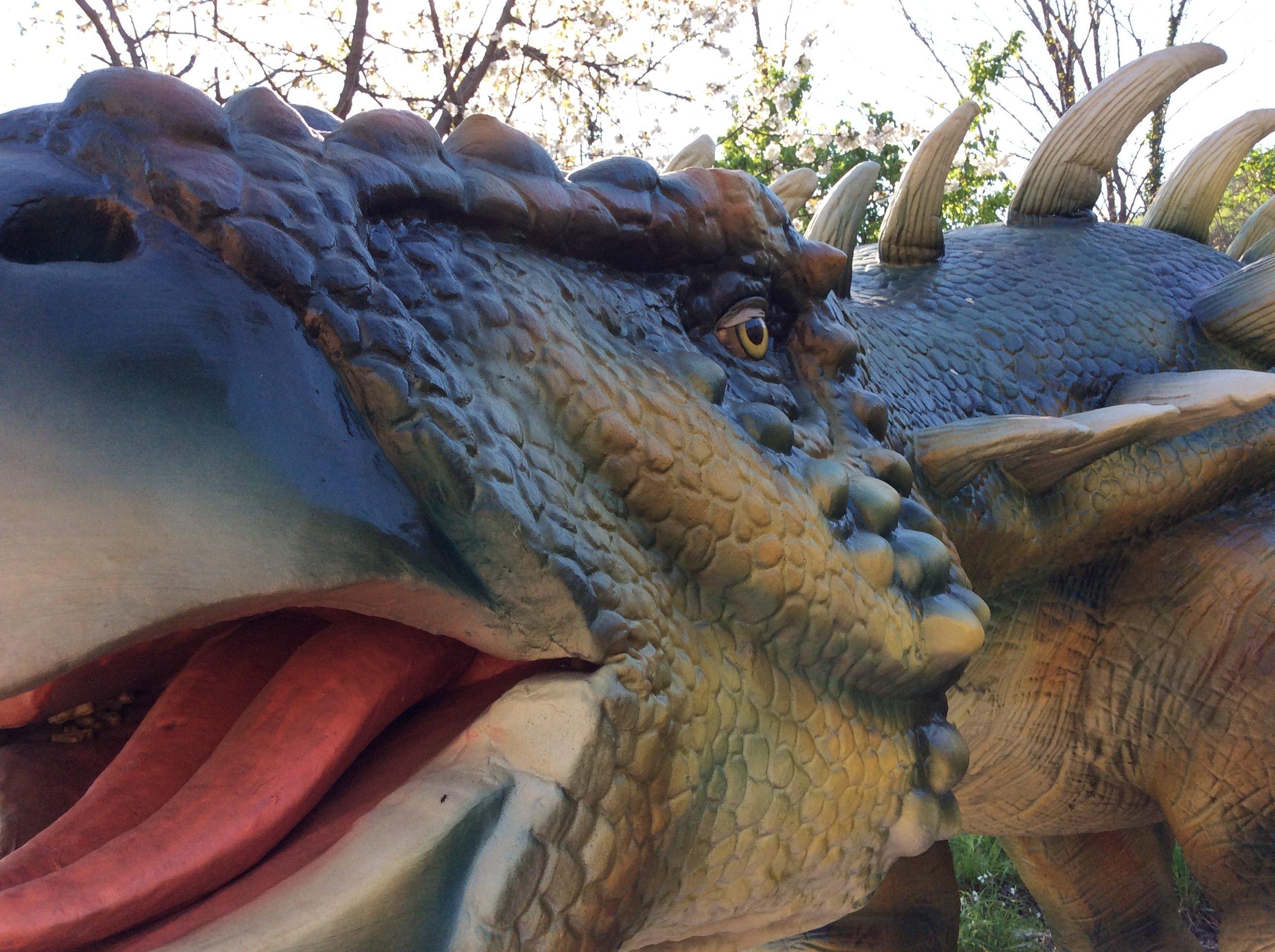 Modello di un dinosauro acquatico