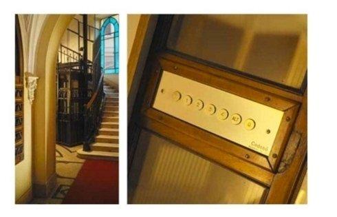particolari comandi ascensori stile classico