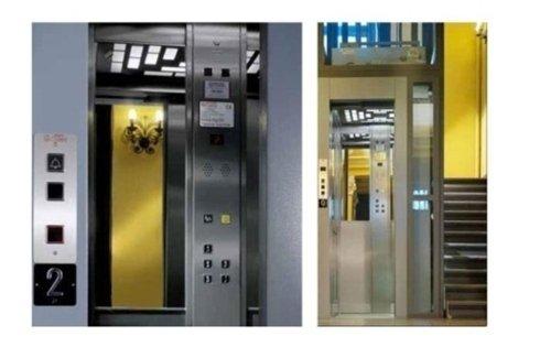 visuale frontale comandi e apertura ascensori stie contemporaneo