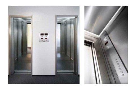 ascensori elettrici rivestimento in acciaio