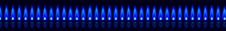 blue flames emitting from gas appliances in Asheboro, NC