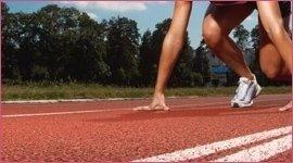 pista atleta in tartan