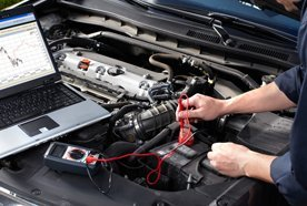 carrying out engine diagnostics