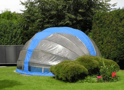 Closed Budget swimming pool enclosure