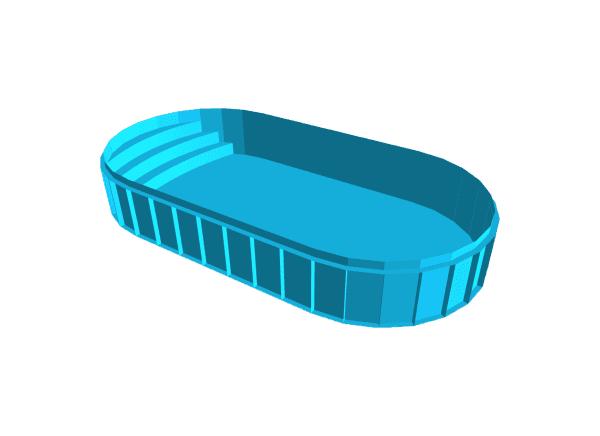 Oval shaped Propa pool