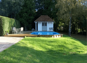 Sunsoka pool in garden