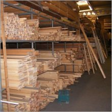 Stacks of hardwood and softwood