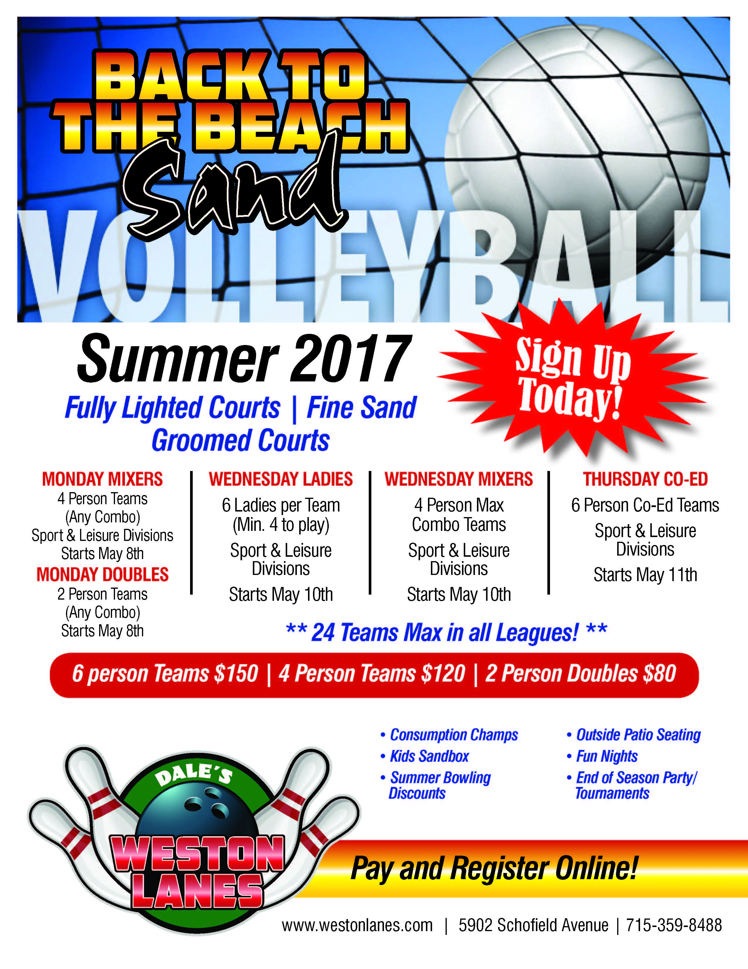 Volleyball Leagues - Weston Lanes