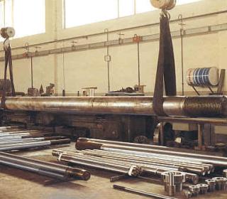 Una colonna prima della riparazione