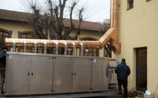impianto industriale di climatizzazione