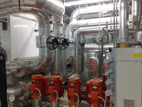 impianto di riscaldamento industriale
