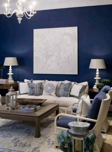 casa con pareti blu