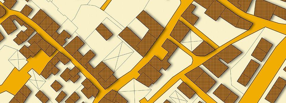 mappa gialla e marrone