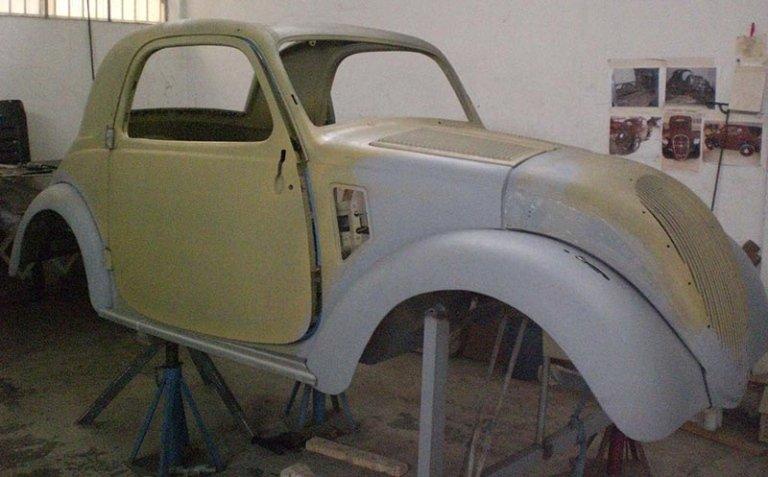restauro di una vettura storica