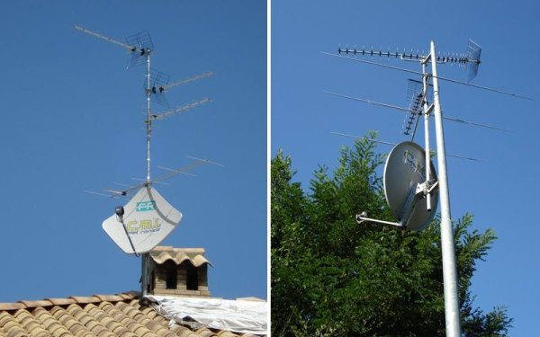gruppo antenne e parabolica