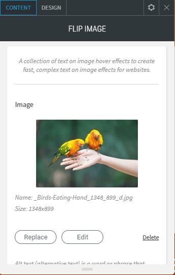 Flip image content