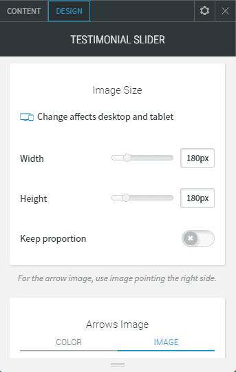 Testimonial Slider design image size