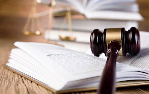 gavel sitting on top of an open book