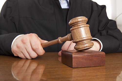 Close up of a judge holding a gavel in Bullhead City