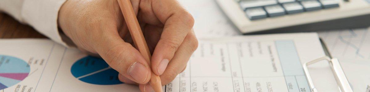 c l financial business man doing finance planning