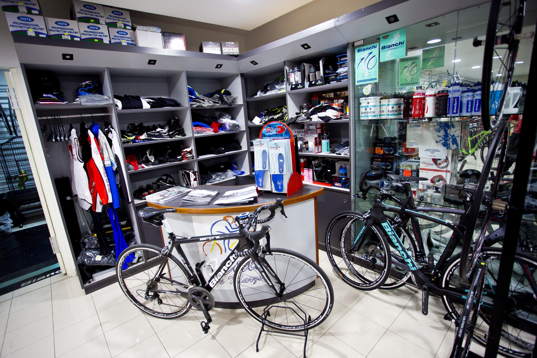 Bicicletta esposte in negozio