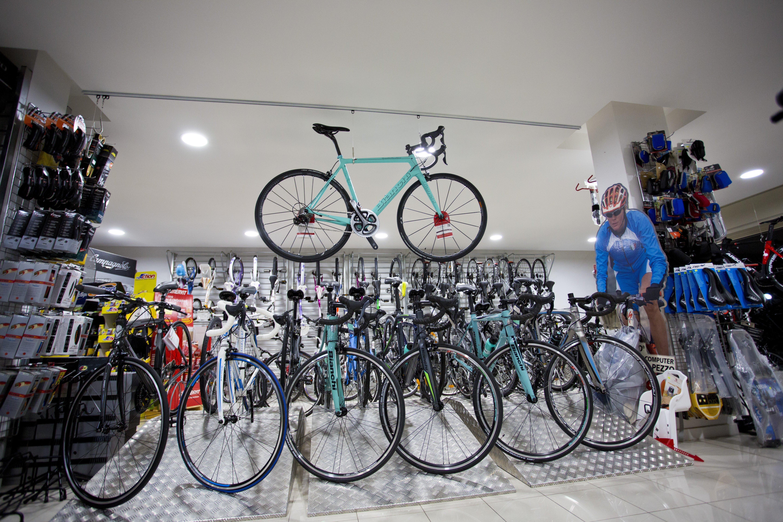 esposizione bici in negozio