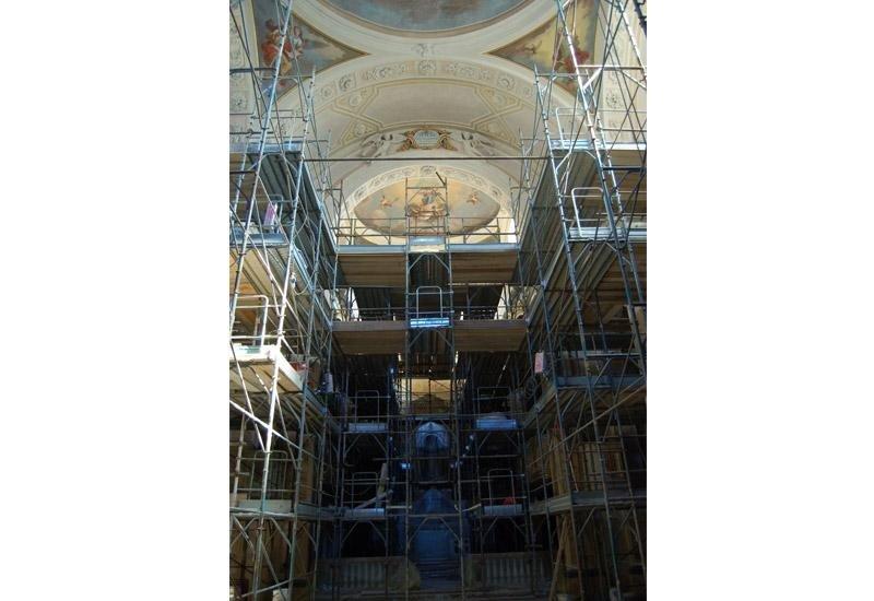 Ponteggio per restauro Chiesa San Gallo