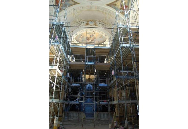 Ponteggio per restauro interno
