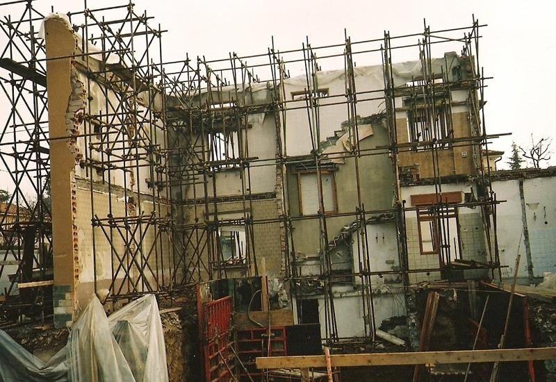 Ponteggio per sostegno strutturale edifici