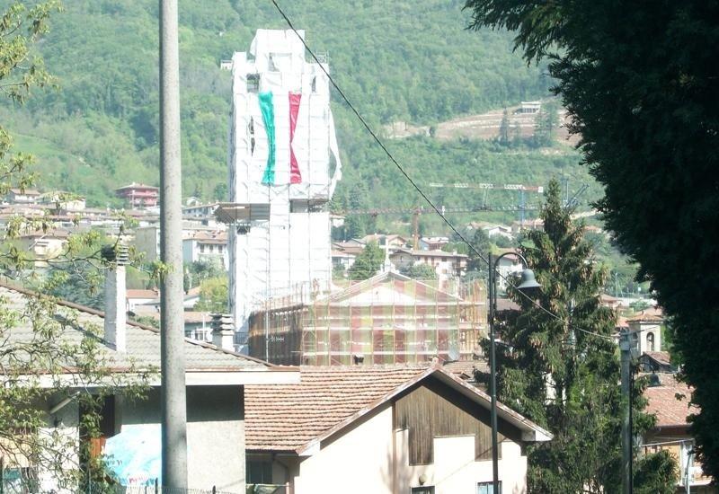 Chiesa Borgo di Terzo impalcatura