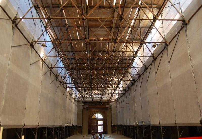 Ponteggio per restauro navata
