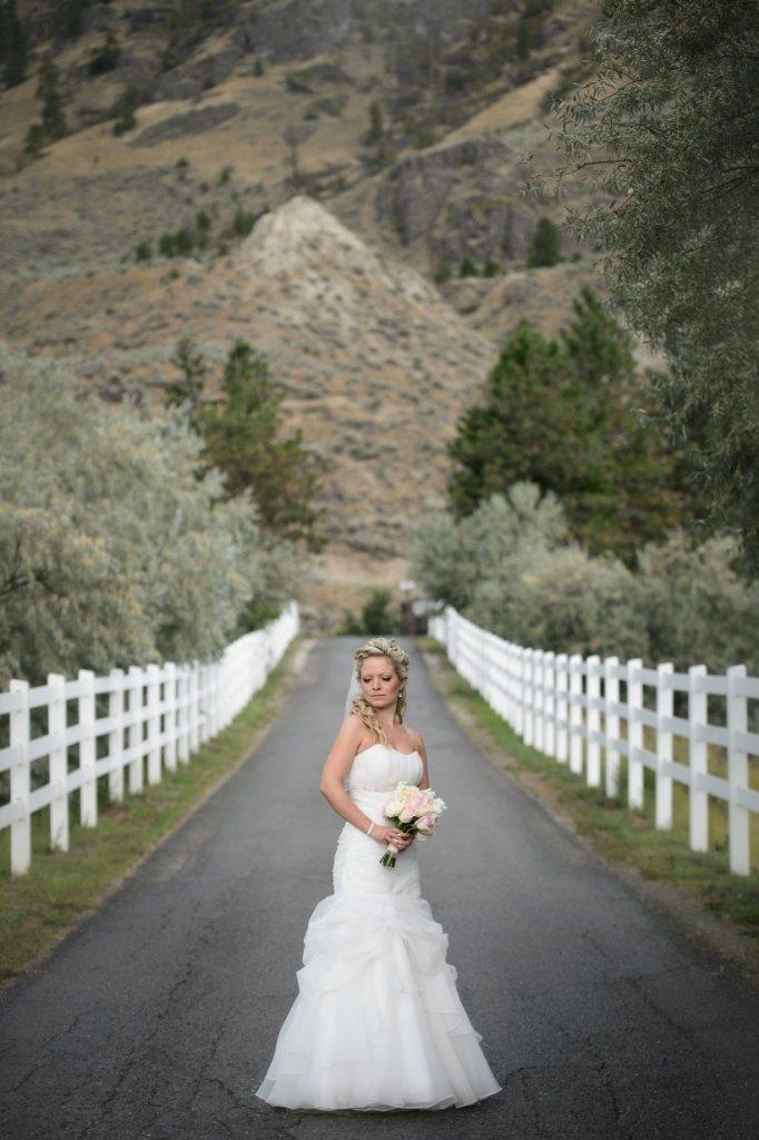 Bride on Driveway