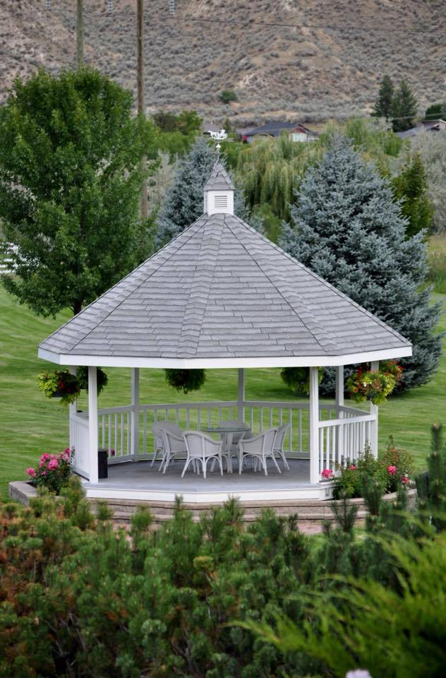 Gazebo in the summer