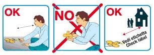 un disegno che spiega i comportamenti da seguire e le cose da non fare quando si ha a che fare con le girandole aeree