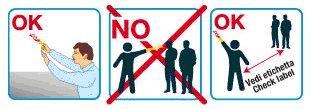 un disegno che spiega i comportamenti da seguire e le cose da non fare quando si ha a che fare con i party popper