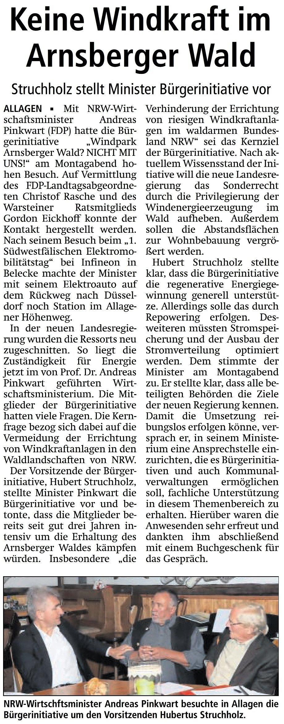 Keine Windkraft im Arnsberger Wald (28.09.17)
