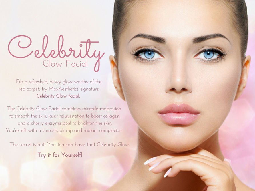 Beauty Day Spa, Celebrity Glow, Facial, Laser Genesis, Brightening Peel, Microdermabrasion, rejuvenate, refresh, glow, dewy skin