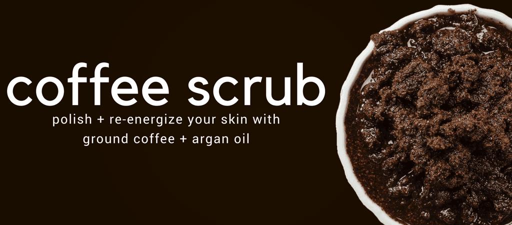 coffee face & body scrub | maxaesthetics | diy scrub + skin care