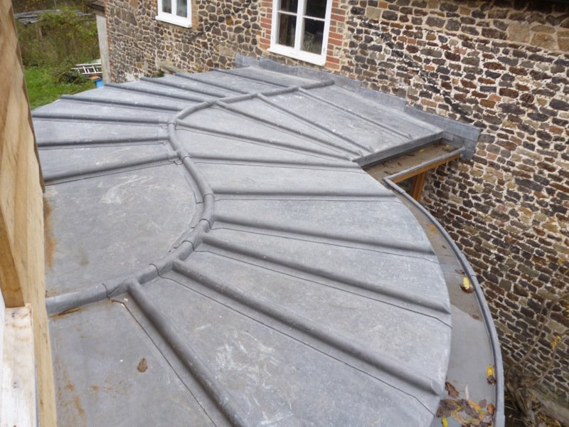 Images of loggia and curved roll roofing in surrey hampshire